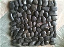 Black Natural Polished Pebble Stone Decoration