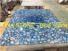 Blue Agate Gemstone Handcrafts Precious Jewelry