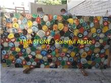 Colorful Agate Gemstone Precious Stone Slabs Tiles