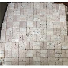 Cream Travertine Honed Polished Wall Mosaic