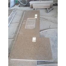 G682 Yellow Rustic Granite Kitchen Worktops