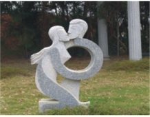 Granite Sculpture Abstract Lover Embrace Human