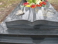 Grey Book Shape Monuments Engraved Headstones