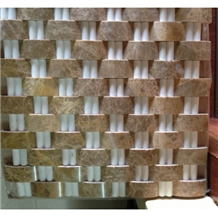 Interior Light Emperador Thasso Marble Mosaic