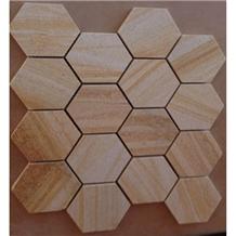 Interior Stone Beige Sandstone Hexagon Mosaic
