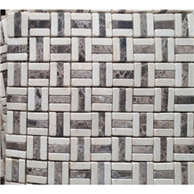 Interior Stone Emperador Crema Marble Mosaic