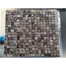 Interior Stone Emperador Marble Mosaic Polished