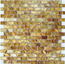 Interior Stone Golden Mosaic Natural Sea Shell