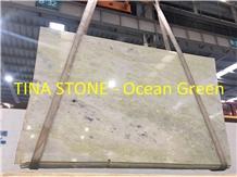 Ocean Green Marble Wave Walling Tiles Floor Slabs