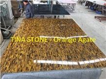 Orange Agate Gemstone Precious Stone Slabs Tiles