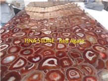 Red Agate Gemstone Precious Stone Slabs Tiles
