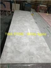 White Agate Gemstone Precious Stone Slabs Tiles