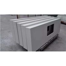 White Quartz Stone Countertop Kitchen Bar Top