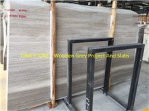 Wooden Grey Marble Wall Tiles Slabs Floor Covering