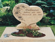 Yellow Color Monuments Heart Shaped Gravestone