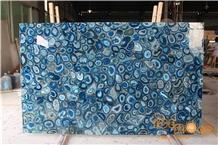 Blue Agate Semiprecious Stone Slabs