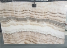 Chinese 2.0cm Exclusive Beige Onyx Polished Slabs