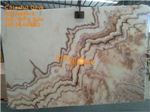Colorful Red Rainbow Onyx Slabs Tiles