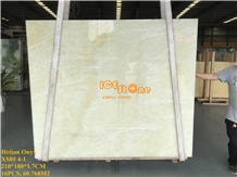 Hetian Yellow Orange Onyx Slabs & Tiles