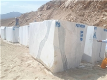 Statuario Marble Block, Iran White Marble