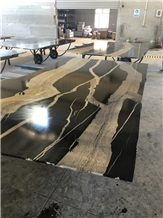 Zebra Black Granite Slabs