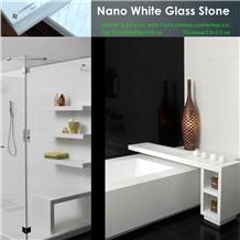 Nano White Marble Bathroom Countertops