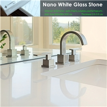 Nano White Marble Kitchen & Bathroom Countertops