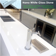 Nano White Marble Kitchen Islands Countertops