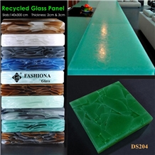 Translucent 100% Recycled Glass Panel