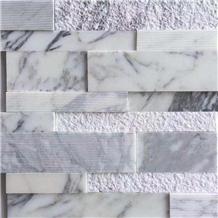 Arabescato Culture Stone Split Marble Mosaic