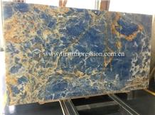 Cheap Pakistan Blue Onyx Stone Slabs,Tiles