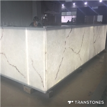 Artificial Backlit Onyx Stone Alabaster for Bartop