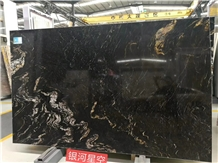 Black Cosmic Granite Nebula Black Slab in China