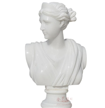 China Pure White Marble Human Busts Sculpture