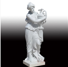 China Pure White Marble Human Statue Sculpture