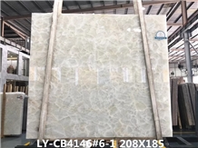 Ice River Jade Pure White Onyx Big Slab Discounted