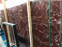 Indo Rosso Levanto Marble Slabs Floor Tiles