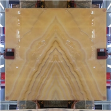 Iran Peach Yellow Onyx in China Market Stone