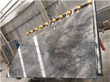 Ocean Blue Grey Marble Slabs Tiles