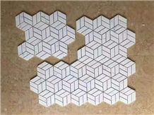 Pure White Marble Stone Wall Floor Mosaic Tile