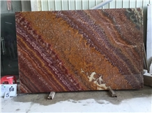 Rojo Vulkano Red Onyx Onice Ruby Slab in China
