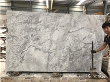 Silver Statuario Marble Armani Calacatta Grey Slab