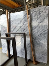 Violet White Grey Marble Slab in China Market
