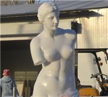 White Marble Venus De Milo Statue Sculpture Stone