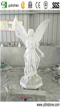 Carrara White Marble Angle Sculpture for Outdoor