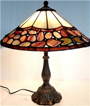 Agate Table Lamp Gemstone Craft for Decoration