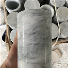 Natural White Marble Stone Vase for Indoor Decor