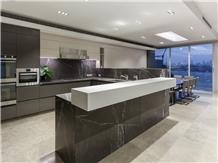 Grigio Marquina Pietra Grey Marble Tiles Kitchen Wall Backsplash