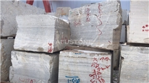Light Silver Travertine Block Iran Quarry Directly,Shuitou Showroom in Stocks