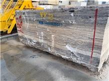 Persian Silver Travertine Quarry Blocks in Stock